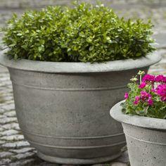 Campania International, Inc Padova Round Pot Planter Size: Large, Finish: Pietra Vecchia