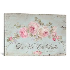 Debi Coules Life Is Beautiful Wrapped Canvas shabby chic home decor Shabby Chic Mode, Romantic Shabby Chic, Shabby Chic Bedrooms, Shabby Chic Style, Shabby Chic Furniture, Shabby Chic Decor, Vintage Furniture, Shabby Chic Wall Art, Shabby Chic Signs