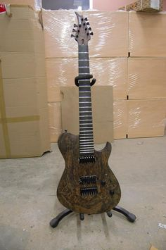BlacKat 7 string spalted walnut top