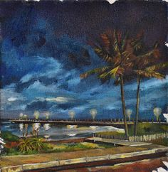 Shop 'Early Days VI' , an oil on canvas painting of the Durban beach front by Deidre Maree, size 20 x available to buy online and worldwide delivery. South African Art, Image Painting, Image Types, Online Art Gallery, Google Images, Oil On Canvas, Beach, Day, Artwork