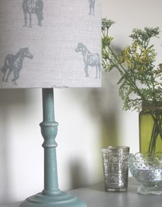 Picture 029 Duck Egg Blue Annie Sloan, Lamp Bases, Dog Bed, Floor Lamp, Blinds, Bulb, Table Lamp, Shades, Design