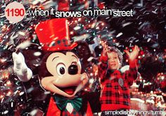 When it snows on Main Street- Simple Disney Things
