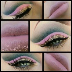 Gray, pale pink, and gold. Rave Makeup, Kiss Makeup, Beauty Makeup, Eyeshadow Crease, Mermaid Eyes, Becoming A Makeup Artist, Stunning Makeup, Amazing Makeup, Pet Shampoo