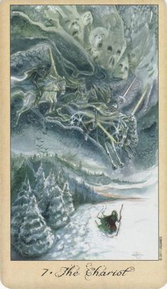 78 Whispers In My Ear: The Wild Hunt Ghosts & Spirits Tarot- The Chariot The Chariot Tarot, Le Tarot, Tarot Major Arcana, Male Witch, Season Of The Witch, Wild Hunt, Oracle Cards, Gods And Goddesses, Tarot Decks