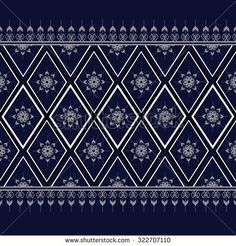 Geometric Ethnic pattern design for background,carpet,wallpaper,clothing,wrapping,Batik,fabric,Vector illustration.embroidery style.