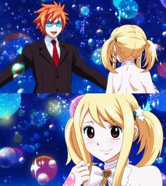 Loke and Lucy -Fairy Tail /*ω*)/ I ship these two but chances are it's gonna be Natsu haha poor Leo still love ya