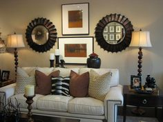 Home sofa table on pinterest sofa tables frame layout for Sofa table behind couch against wall