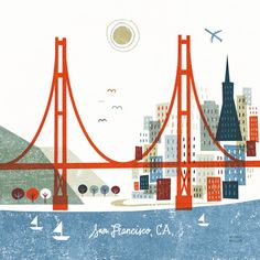 Whimsical US Cityscapes by Michael Mullan