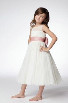 Jewel White Flower Girl Dresses FD0160 by Dream Bridal