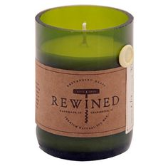 Recycled Wine Bottle 60-80 Hour Soy Wax Candle - Champagne Rewined http://www.amazon.com/dp/B007I3YA08/ref=cm_sw_r_pi_dp_gikdvb1TVNTB9