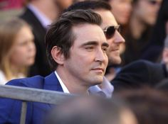 Lee Pace (and Richard Armitage in the background) at the Hollywood Walk of Fame ceremony for Peter Jackson, Dec. 8, 2014.