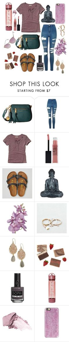 """LaLa"" by lovekaitlin ❤ liked on Polyvore featuring Marc Jacobs, Topshop, Hollister Co., Maybelline, American Eagle Outfitters, Panacea, Piggy Paint, Stila, Casetify and Quay"