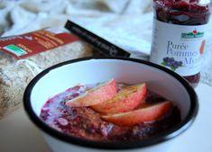 Overnight porridge pommes myrtilles Grapefruit, Food, Apples, Morning Breakfast, Greedy People, Recipes, Essen, Meals, Yemek