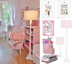 Piękny pokoik dla dziewczynki w różowych odcieniach.