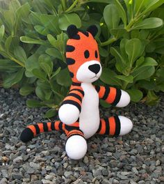 Small Huggable Hobbes Tiger  Made to Order by HuggableFriends
