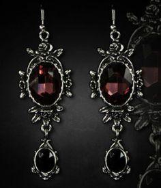 Restyle-Ohrringe-Gothic-Lolita-Dornroeschen-Barock-Victorian-Wild-Rose-Earrings