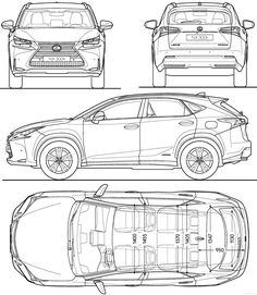 Lexus NX 300h (2015) Classic House, Modern Classic, Car Top View, Bmw M2, Cad Drawing, Car Posters, Cutaway, Photo Reference, Motors
