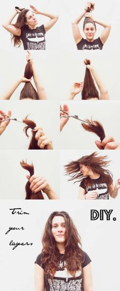 Trim your split ends without getting shorter hair definately how to cut your own layers solutioingenieria Gallery