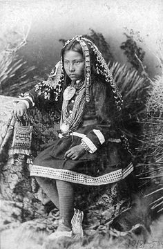 cherokee indians | Cherokee: Portrait of a Cherokee Girl in Native Dress