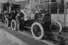 Car Assembly in Detroit Factory