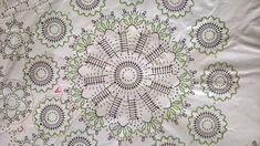 Rękodzieło na co dzień: Serweta koniakowska - szydełkowe cudo - część I - kwiatek Crochet Potholders, Crochet Tablecloth, Crochet Doilies, Crochet Lace, Lacemaking, Irish Lace, Dream Catcher, Mandala, Crochet Patterns