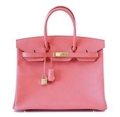 Hermes Birkin Bag 35 Flamingo Pink Epsom Gold Hardware  #hermes