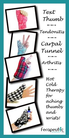 Thumb Wrap Wrist Heat Wraps, Hot Cold Packs for Carpal Tunnel, Tendonitis - product images of Rheumatoid Arthritis Treatment, Arthritis Remedies, Headache Remedies, Cough Remedies, Carpal Tunnel Relief, Hot Cold Packs, Migraine Relief, Pain Relief, Scrappy Quilts
