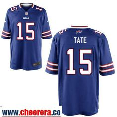 31a526418ee Men s Buffalo Bills  15 Brandon Tate Royal Blue Team Color Stitched NFL  Nike Elite Jersey