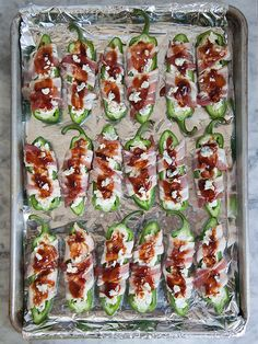 Stuffed Jalapeños with Gorgonzola and Bacon plus 10 Jalapeño Popper Recipes | foodiecrush