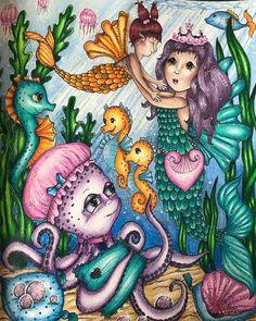 """Morganecolopassion on Instagram: """"Voici mon premier colo du livre Fairy celebration de Klara Markova réalisé en trio avec @lescouleursdaudrey et @artand.books ! Je me suis…"""""""
