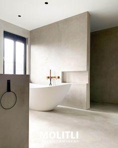 Tadelakt, Washroom, Bathroom Interior Design, Bathroom Inspiration, Future House, Toilet, Sweet Home, New Homes, Bathtub