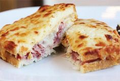 Browse photos & get the inside scoop about the best thing to eat at the famous Bar Boulud restaurant in New York City - the delicious Croque Monsieur Sandwich! Sandwiches, Sandwich Bar, Best Sandwich, Sandwich Croque Monsieur, Ideas Sándwich, Banana Coconut, Coconut Recipes, Savoury Cake, Foodie Travel