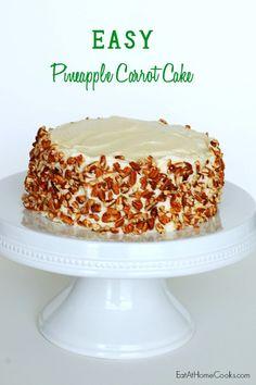 Easy Pineapple Carrot Cake