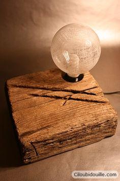 Ciloubidouille » Lampe morceau de bois