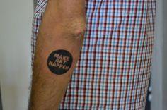 "Art quote tattoo  // Tatouage texte typo ""Make Art happen"""