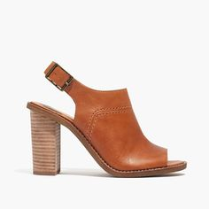 """Walking the line between boot and sandal, these brilliant leather slingbacks are ideal for those in-between weather days (and the perfect counterpart to flares, amongst other things). When you select your size, """"H"""" equals a half size. <ul><li>Leather upper and lining.</li><li>3 9/16"""" heel.</li><li>Man-made sole.</li><li>Import.</li></ul>"""