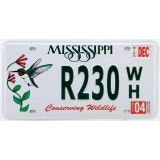 Reproduction de plaque américaine d'immatriculation ( license plate ) : MISSISSIPPI Conserving Wildlife