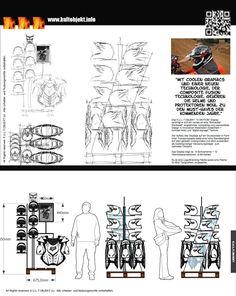 Warendisplay für Helme, Handschuhe, ...  Idee & Entwurf - powered by K.U.L.T.OBJEKT.
