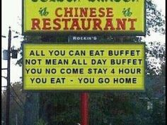 Funny pictures about Chinese Buffet. Oh, and cool pics about Chinese Buffet. Also, Chinese Buffet photos. Restaurant Signs, Chinese Restaurant, Humor Chino, I Love To Laugh, Make You Smile, Funny Chinese, Chinese Food, Chinese Man, Speak Chinese