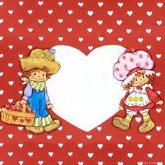 ♥ Emily Erdbeer & Friends ♥ Strawberry Shortcake Characters, Vintage Strawberry Shortcake, Huckleberry Pie Strawberry Shortcake, Rainbow Brite, Vintage Paper Dolls, Vintage Greeting Cards, Writing Paper, Cute Kids, Childhood Memories