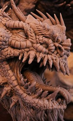 Bull Dragon Wyrm Sculpt Close by AntWatkins on DeviantArt