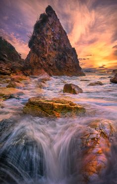Converging Splash Rocks | Harris Beach, Southern Oregon Coast | by Kevin McNeal~~
