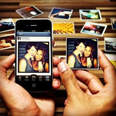 Great gift idea for Valentine's Day. Turn your Instagram photos into magnets.
