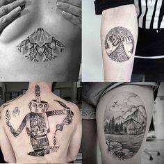 Pontilhismo Tattoo - 10 perfis inspiradores de tatuagem para seguir no Instagram;