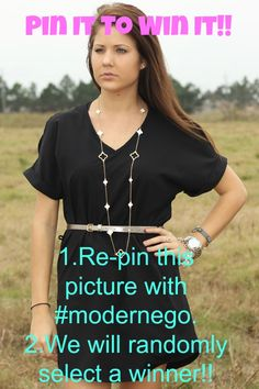 Pin It To Win it!!! Re-pin this post with #modernego and we will randomly pick a winner! That easy!