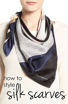 How to style and wear silk scarves  http://www.viachic.com/shop/viachiconeclutch