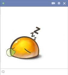 Facebook emoticon sleeping