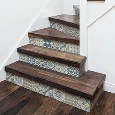 """""""Agadir stairs"""" Stickers for stairs, fabric effect - Very high print resolution - Wall stickers - Home Decor Ideas - DIY Stair Decor Tile Stairs, Stair Walls, Wood Stairs, Tiled Staircase, Stair Risers, Stair Stickers, Wall Stickers, Wall Decals, Home Decor Bedroom"""