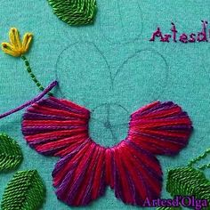 Embroidery Stitches On Knitting. Hand Embroidery Patterns Religious during Embroidery Machine Hoops above Embroidery Patterns Letters on Embroidery Designs Library Creative Embroidery, Simple Embroidery, Learn Embroidery, Crewel Embroidery, Ribbon Embroidery, Embroidery Ideas, Floral Embroidery, Embroidery Tattoo, Embroidery Needles