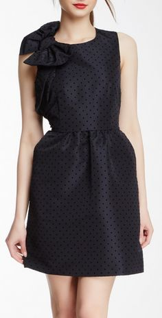 polka dot dress. Classic and clean.